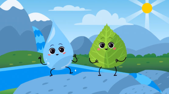 <strong>2D ANIMATION: Clean water Drop </strong> JKP Grosuplje